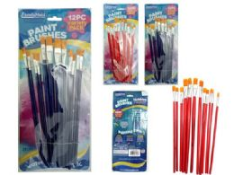 72 of 12pc Artist Paint Brushes