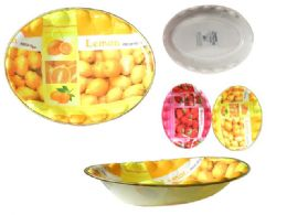 72 of Printed Plastic Oval Tray