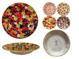 60 of Round Serving Bowl With Gold Trim