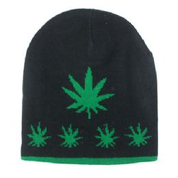 36 of Winter Beanie Hats Marijuana Print
