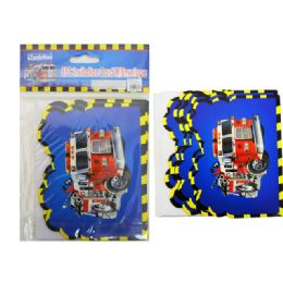 144 of 8pc Fire Truck Invitation Card & Envelope