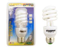 72 of 7 Watt Energy Saving Spiral Lightbulb