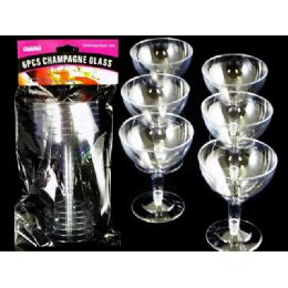 96 of 6 Piece Plastic Champagne Glass