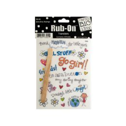 144 of Girls Only Sayings RuB-On Transfers