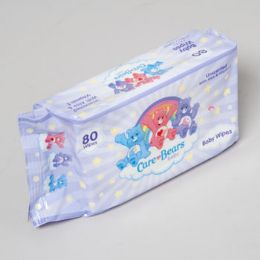 48 of Care Bears Baby Wipes 80 Sheets Unsented W/aloe & Vitamin E