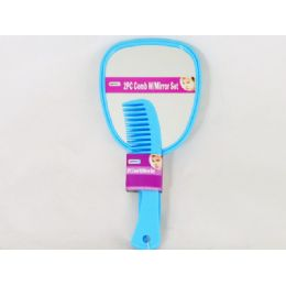 60 of Comb 2pc W/mirror Set 2 Asst Color Blue & Pink