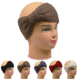 72 of Ladies Winter Head Band Assorted Colors