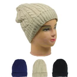 72 of Ladies Fashion Beanie Assorted Colors