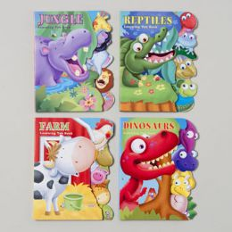 48 of Board Books Learning Tab 4 Asst Farm,jungle,reptile & Dinosaurs In Pdq