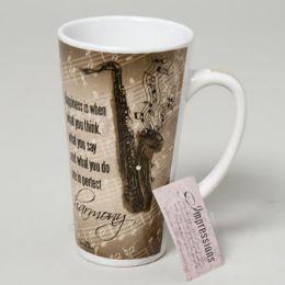 48 of Mug Latte 16 Oz Ceramic Impressions Saxophone