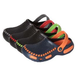 36 of Boys Clogs In Assorted Colors And Sizes