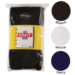36 of Girls Heavy Knit Tights Black Only Assorted Sizes