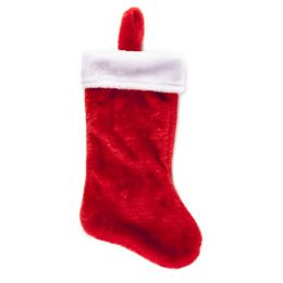 18 of Stocking Deluxe Plush Red W/ White Cuff 18in Xmas Ht/J-Hook