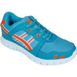 12 of Mens Running Sneakers In Teal And Orange