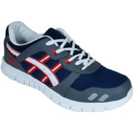 12 of Mens Running Sneakers Navy Gray And Red