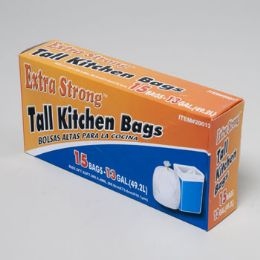 120 of Trash Bags 15 Ct - 13 Gal Tall Kitchen - White