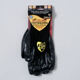 96 of Gloves Wet/oil Grip Black One Size Fits Most
