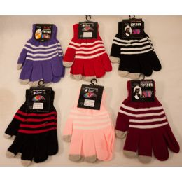 60 of Texting Gloves Lady's Size Assorted Color