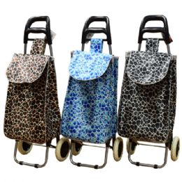 12 of Shopping Cart W/ Wheels Metal Handle