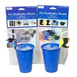 48 of Graduation Party Straws 20pk