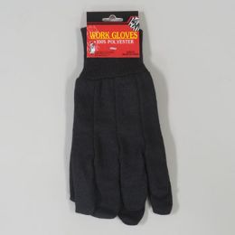 48 of 10in 100% Polyester Brown Jersey Work Gloves
