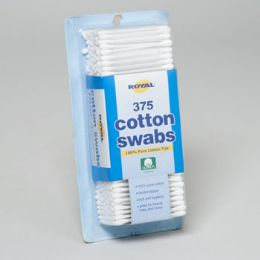 36 of Cotton Swabs 375ct Plastic Stick Recloseable Blister Card