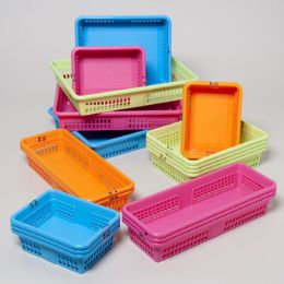 56 of Office Basket Display 4 Colors 4 Sizes #8600 Colors: Orange, Blue, Green, Pink