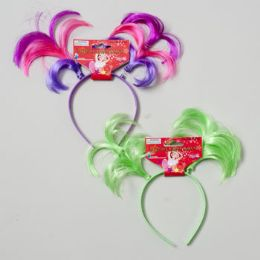 144 of Headband Triple Pigtail Solid & Tricolors