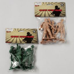 96 of Military Figure Playset 4pk 4in Soldiers 2ast Color