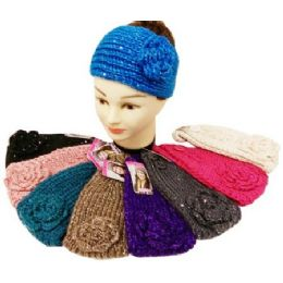 24 of Sequins Knitted Ear Band / Headbands Assorted
