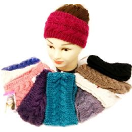 36 of Knitted Ear Band Headband Solid Color Assorted