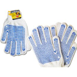 144 of Working Gloves Men 2pairs Blue Clr