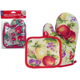 144 of Glove + Pot Holder 2pc/pc Apple