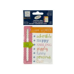 144 of Baby Girl Chipboard Slider With Glitter Accents