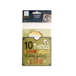 144 of 10 Things I Love About Everyday Life Journaling Pocket