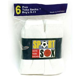 30 of Boy's White Tube Socks size 4-6