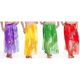 12 of Chiffon Tie Dye Skirt Adjustable Waist Tie