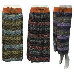 12 of Long Multicolor Tie Waist Chevron Skirts