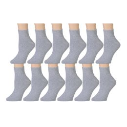 60 of Yacht & Smith Men's Cotton Sport Ankle Socks Size 10-13 Solid Gray