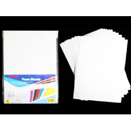 96 of Foam Sheets 10pc Eva White Clr 11.8*7.9