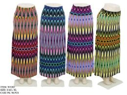 96 of Women's Long Colorful Patterned Skirt In Assorted Colors