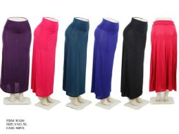 96 of Women's Long Lightweight Skirts In Assorted Colors