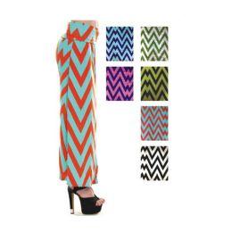 96 of Women's Long Zig Zag Print Skirt In Assorted Colors