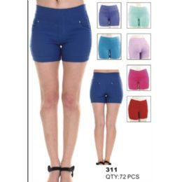 36 of Womens Assorted Solid Color Fashion Shorts