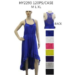 36 of Women's High Low Solid Color Sundress