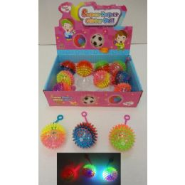"""72 of 2.5"""" Light Up Yoyo Spike Ball With Squeaker"""