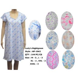 72 of Ladies Summer Nightgown Assorted Styles