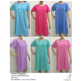 144 of Ladies Summer Nightgown Assorted Solid Colors