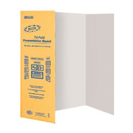 "24 of Bazic 36"" X 48"" White TrI-Fold Corrugated Presentation Board"