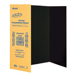 "24 of Bazic 36"" X 48"" Black TrI-Fold Corrugated Presentation Board"